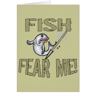 Fish Fear Me T-shirts and Gifts Greeting Card