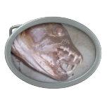 fish fear oval belt buckle