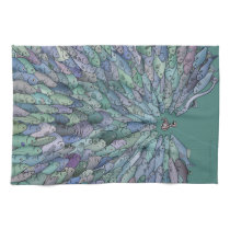 Fish Feeding Frenzy Kitchen Towel