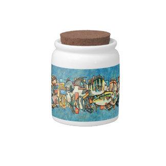 Fish Festival candy jar