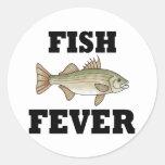 Fish Fever Round Sticker
