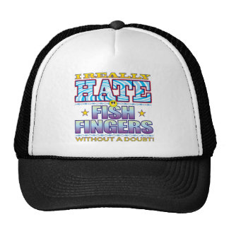 Fish Fingers Hate Face Trucker Hat