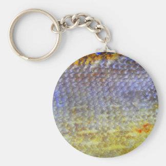 fish Fischschuppen Oberflaechen Basic Round Button Keychain