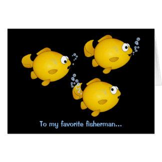 Fish fisherman happy birthday card
