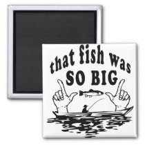 Fish fishing comic fisherman funny magnet