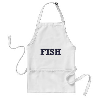 """Fish"" fishing fan design Adult Apron"