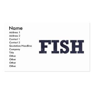 """""""Fish"""" fishing fan design Business Card"""