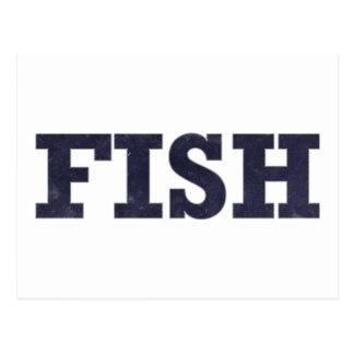 """Fish"" fishing fan design Postcard"