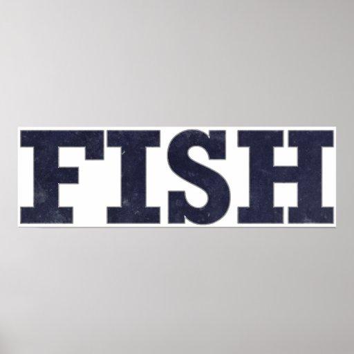 """Fish"" fishing fan design Posters"