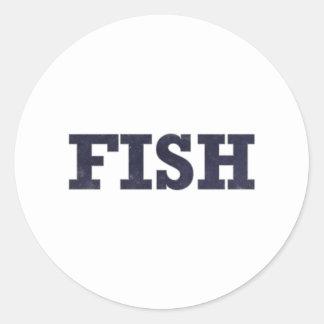 """Fish"" fishing fan design Stickers"
