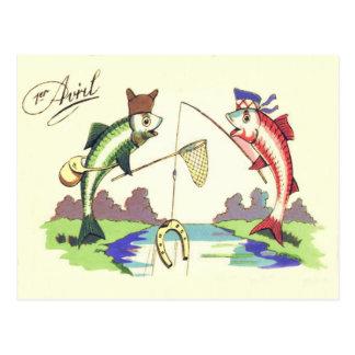 Fish Fishing Horseshoe Net Postcard
