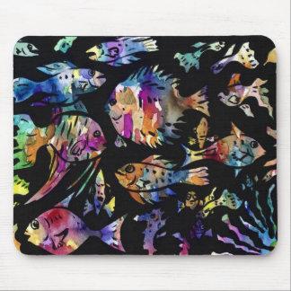 fish fishy fish mouse pad