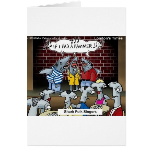 Fish Folk Singers Funny Gifts Tees & Collectibles Card