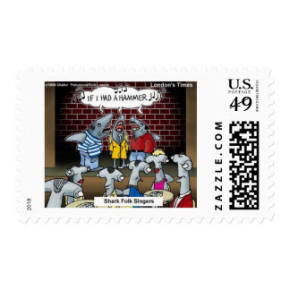 Fish Folk Singers Funny Gifts Tees & Collectibles Stamp