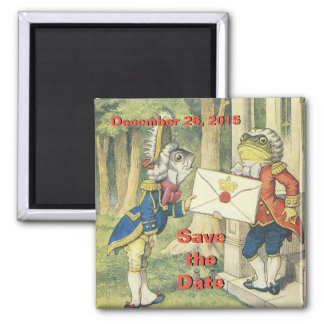 Fish Footman and the British Toad 2 Inch Square Magnet