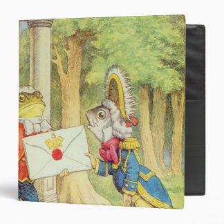 Fish-Footman Delivering an Invitation to a 3 Ring Binder