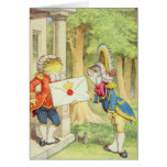 Fish-Footman Delivering an Invitation to a Greeting Card