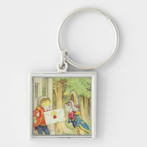 Fish-Footman Delivering an Invitation to a Key Chain