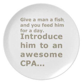 Fish for a day or Awesome CPA Dinner Plate