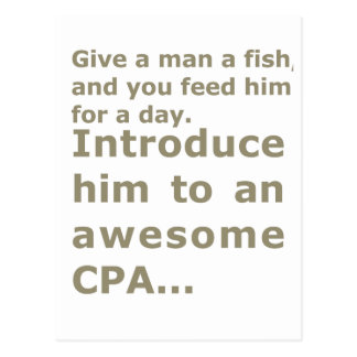 Fish for a day or Awesome CPA Postcard