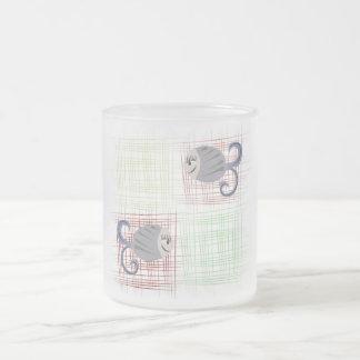 Fish Frosted Glass Coffee Mug
