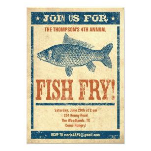 Fish Fry Party Invitations Zazzle