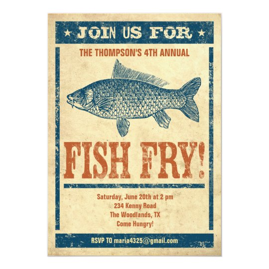 Fish Fry Invitations Zazzle Com