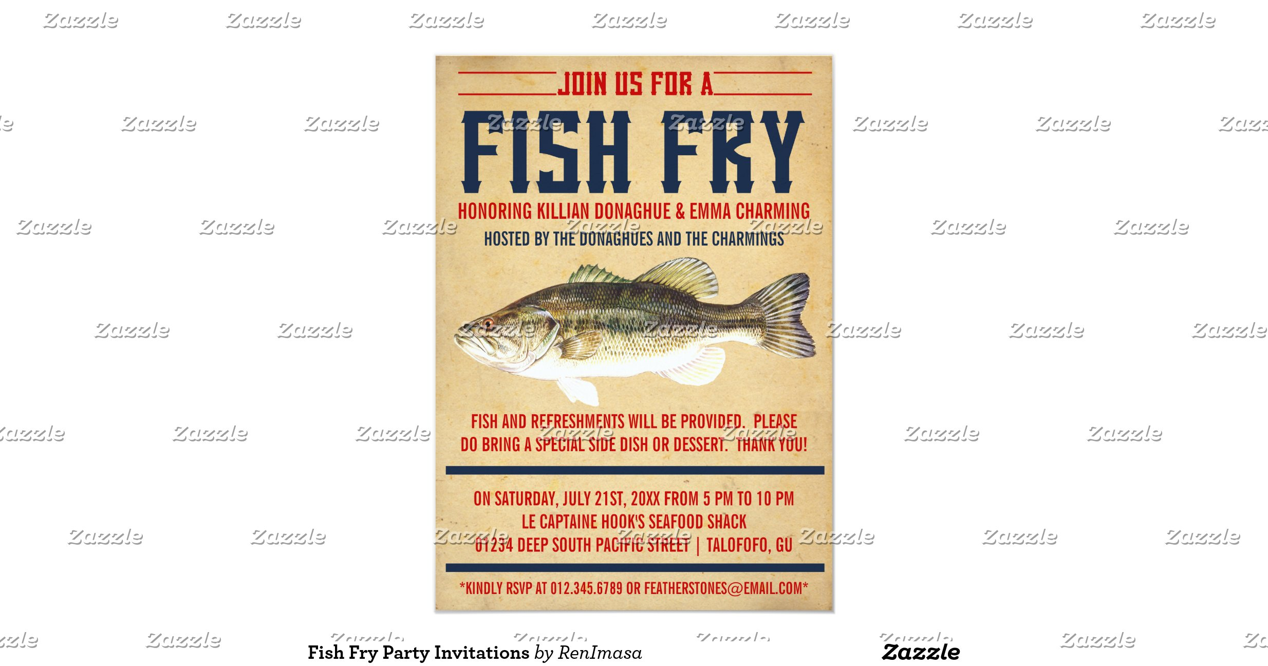 Fish fry party invitations for Fish fry in my area