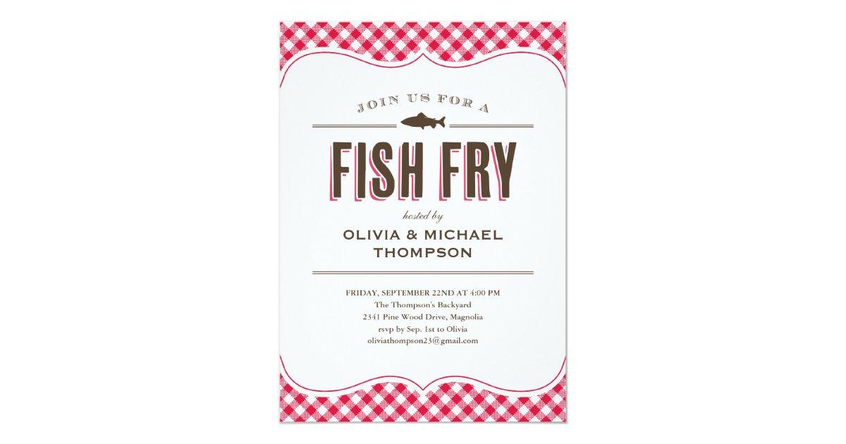Fish Fry Party Invitations Zazzle Com