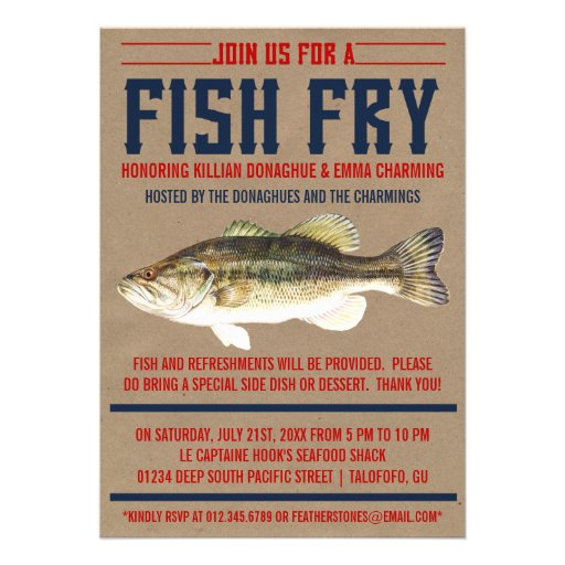 Homemade fish fry party invitations party invitations ideas for Homemade fish fry