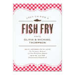 """Fish Fry Party Invitations 5"""" X 7"""" Invitation Card"""