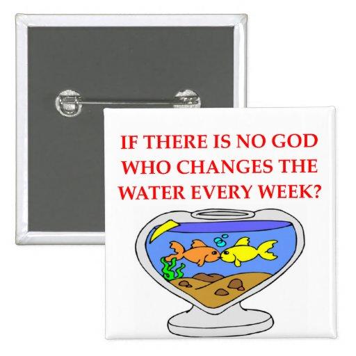fish god 2 inch square button