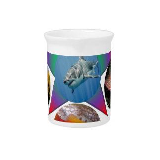 fish,goldfish,carp, fishing, sea, ocean, animal beverage pitcher