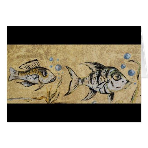 Fish Graffiti Greeting Card