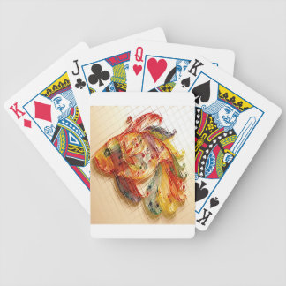 Fish graphics bicycle playing cards