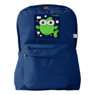 Fish(Green) Backpack, Navy American Apparel™ Backpack
