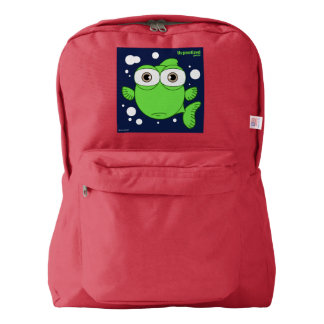 Fish(Green) Backpack, Red Backpack