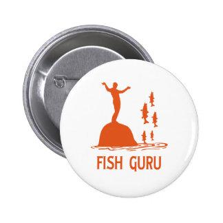 Fish Guru Pinback Button