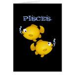 Fish happy birthday Pisces card