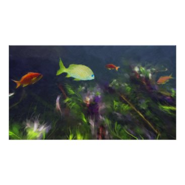 Beach Themed Fish Haven Poster
