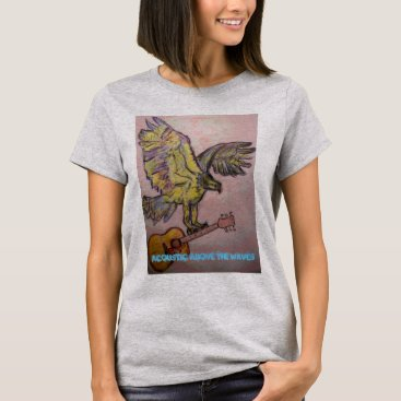 Beach Themed Fish Hawk acoustic above the waves T-Shirt