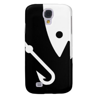 Fish Head and Hook - Black and White Galaxy S4 Cover