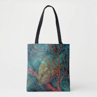 Fish Hiding in Sea Fan Tote Bag