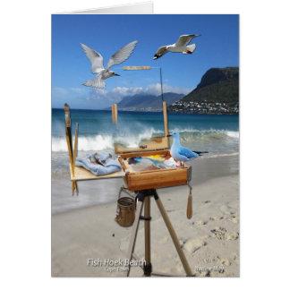 Fish Hoek Beach - Cape Town Greeting Card