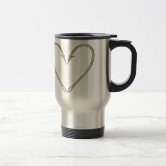Fish Hook Heart Travel Mug