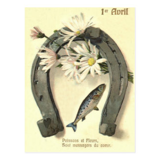 Fish Horseshoe Daisy Postcard