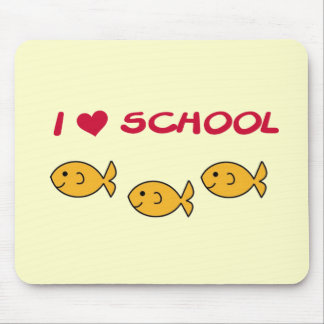 Fish I Love School Tshirts and Gifts Mouse Pad
