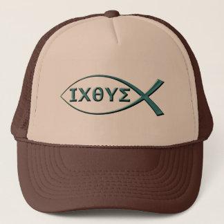 Fish Ictus symbol on Hat