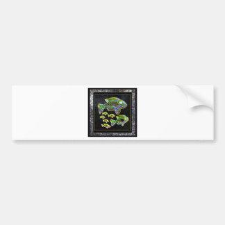 FISH Illuminated graphic artistic design pets Bumper Sticker