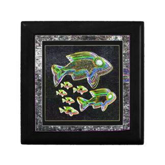 FISH Illuminated graphic artistic design pets Jewelry Box